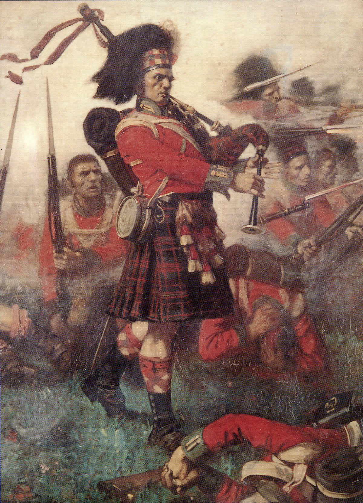 Piper sur le champ de bataille